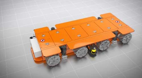 AGV retort loading