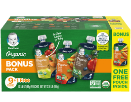 Variety Pack system spouted pouch